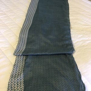 "Scarf.  Large. 63"" long by 28"" totally unfolded."